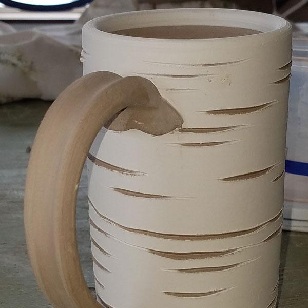 white mug from pottery