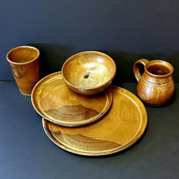 brown dish set