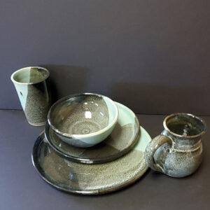 green dish set